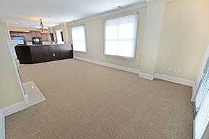 The Ambassador living area is an open floor plan.