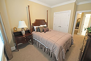 The second bedroom is directly across from the second bathroom.