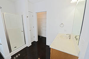 The Kirkwood, Uptown Senate, master bathroom is very spacious.