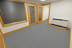 This particular office comes with a storage room.