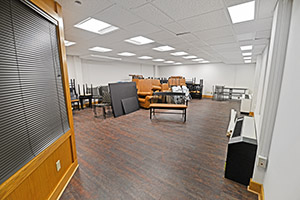 This spacious office provides multiple LEDs.