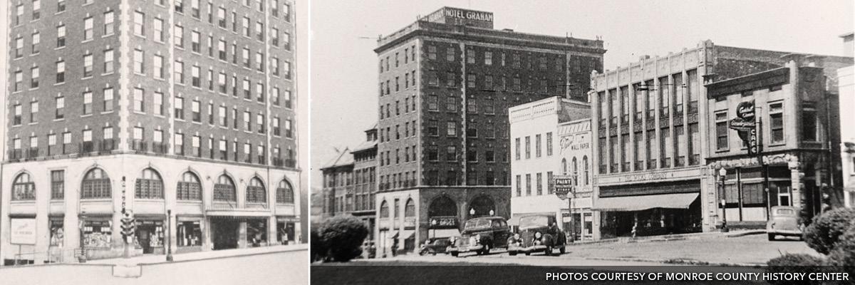 Photographs of Hotel Graham, circa 1930s.