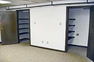 Graham Plaza, Suite 014, Private Office provides two storage closets.